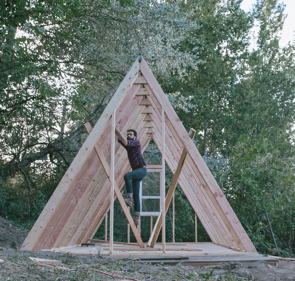 how to build an a frame cabin glampvibes